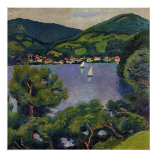 Vintage August Macke View From The Tegernsee Poster