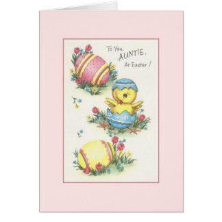 Vintage Aunt Easter Greeting Card