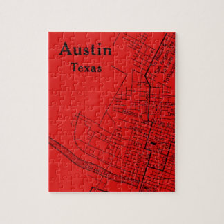 Vintage Austin Red Jigsaw Puzzle