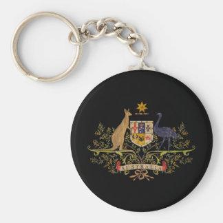 Vintage Australia Coat Of Arms Basic Round Button Keychain
