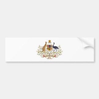Vintage Australia Coat Of Arms Bumper Sticker