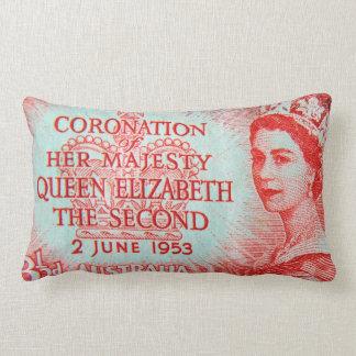 Vintage Australian Stamp Print Throw Pillow