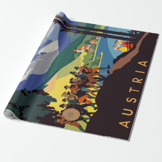 Vintage Austria Alps Travel Wrapping Paper
