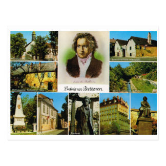 Vintage Austria, Places linked to Beethoven Postcard