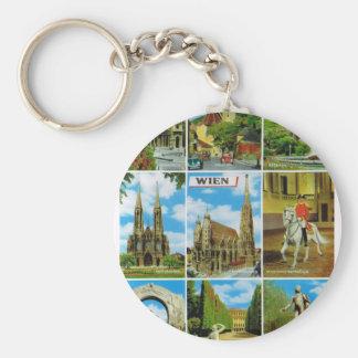 Vintage Austria, Wien, Vienna, Multiview Keychain