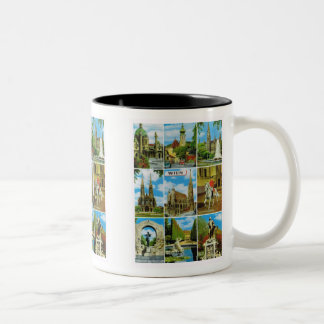 Vintage Austria, Wien, Vienna, Multiview Two-Tone Coffee Mug