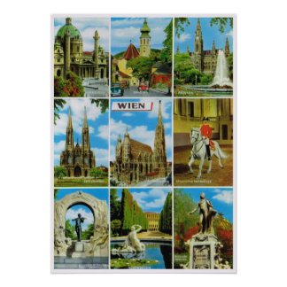 Vintage Austria,  Wien, Vienna, out and about Poster