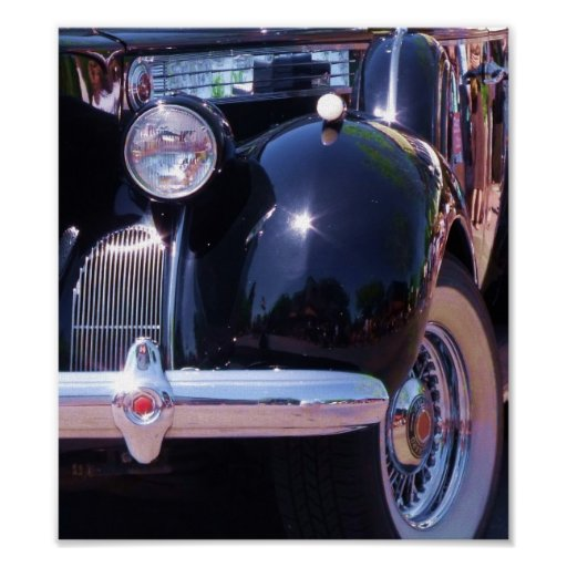 Vintage Auto Chrome Detail Art Poster