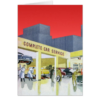 Vintage Auto Mechanics Complete Car Service Garage Card