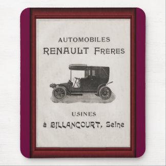 Vintage automobile advertisement, Renault Mouse Pad