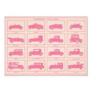 Vintage Automobile Baby Shower Invitation
