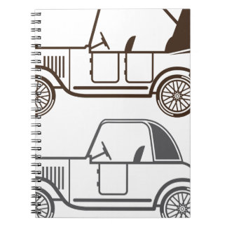 Vintage automobile notebook