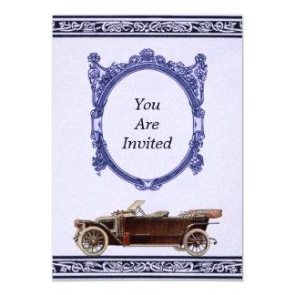 Vintage Automobile Wedding Invitations