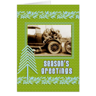 Vintage Automotive Repair Service | Holiday Greeting Card