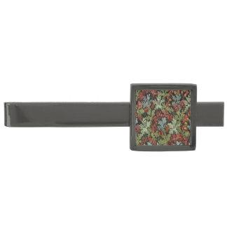 Vintage Autumn Floral Gunmetal Finish Tie Bar
