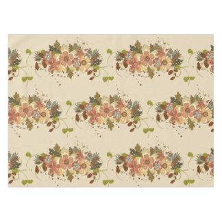 Vintage Autumn Floral Table Cloth