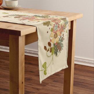 Vintage Autumn Floral Table Runner