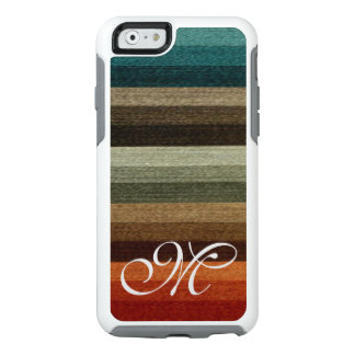 Vintage Autumn Striped Pattern, Warm Earth Tones OtterBox iPhone 6/6s Case