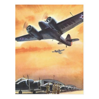 Vintage Aviation Airplane Color Art Postcard