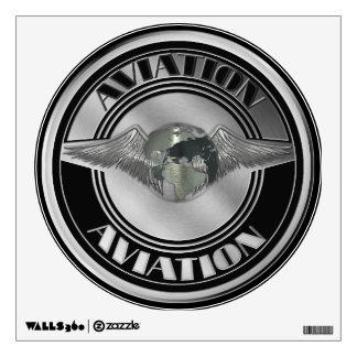 Vintage Aviation Art Wall Sticker