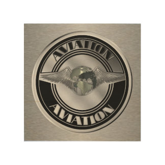 Vintage Aviation Art Wood Canvases