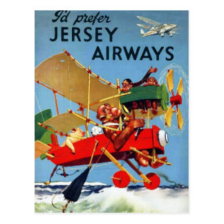 Vintage Aviation - postcard