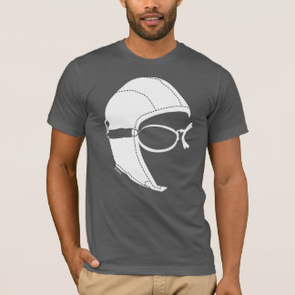 Vintage Aviator Short Sleeves Soft T-Shirt, Gray T-Shirt
