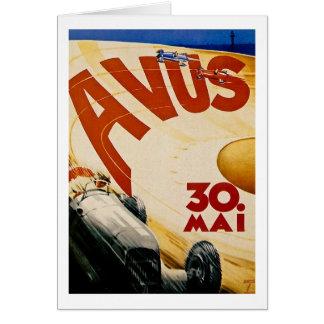 Vintage AVUS Race Poster Card