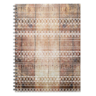 Vintage Aztec Tribal Wood Notebook
