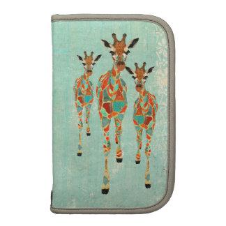 Vintage Azure & Amber Giraffes Planner