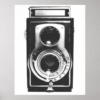 Vintage b w Camera Print