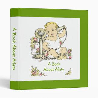 Vintage Baby Binder Memory Book Album