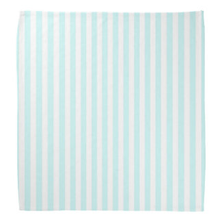 Vintage Baby Blue Pastel Colors Stripes Pattern Bandana
