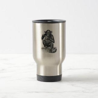 Vintage Baby Chimpanzee Drawing Travel Mug