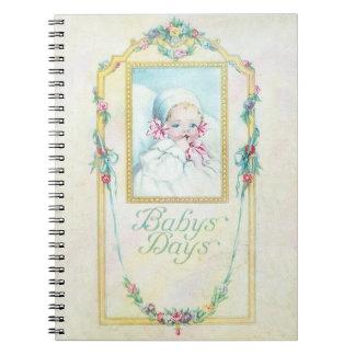 Vintage Baby Days Notebook