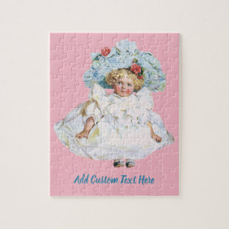 Vintage Baby Girl Doll, Easter Dress and Hat Jigsaw Puzzle