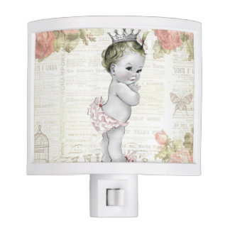 Vintage Baby Girl Little Princess Night light