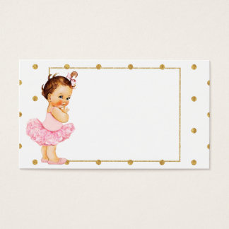 Vintage Baby Girl Princess Business Card