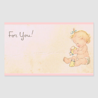 Vintage Baby Girl Sticker