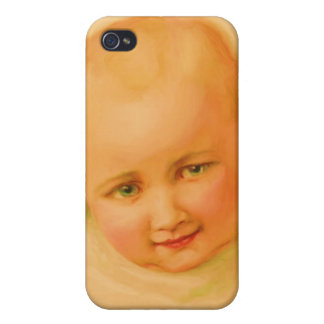 Vintage Baby Hard Shell Case for iPhone 4