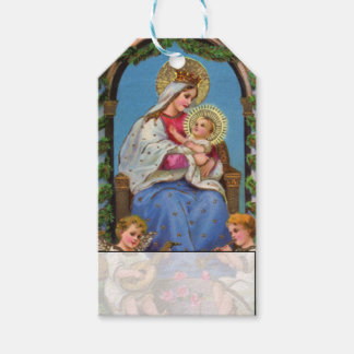 Vintage Baby Jesus Mary and Angels Christmas Gift Tags
