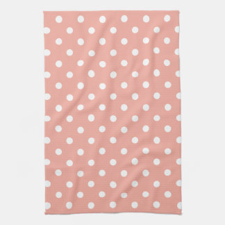 Vintage Baby Pink and White Polka Dot Kitchen Towel