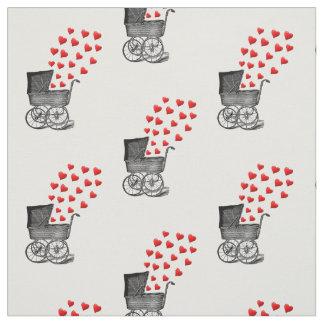 vintage baby pram design nursery fabric
