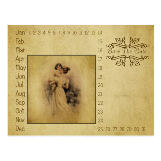 Vintage Baby Shower Circle-It to Save the Date Postcard