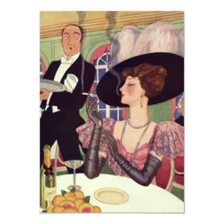 Vintage Bachelorette Champagne Party Invitation