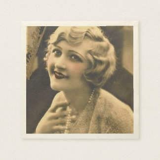 vintage bachelorette Party Gatsby bridal shower Paper Napkins