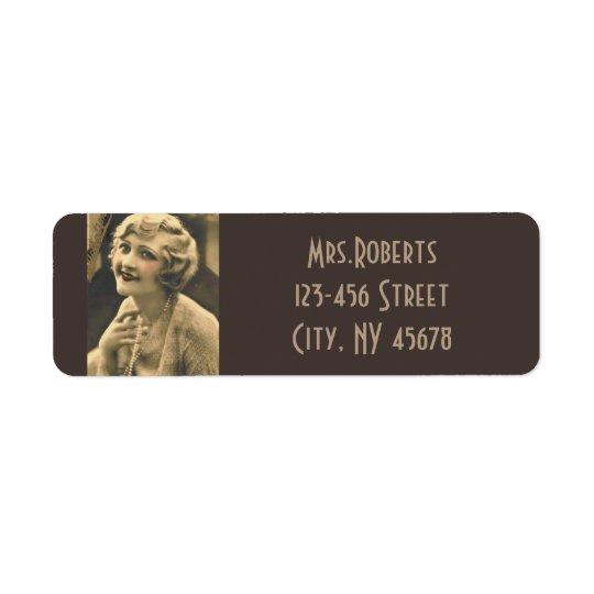 vintage bachelorette Party Gatsby bridal shower Return Address Label