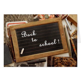 "Vintage ""Back to school"" Greeting Card"