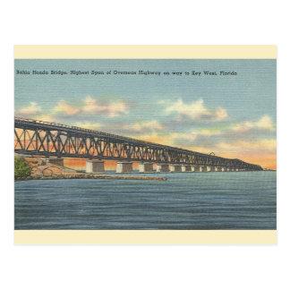 Vintage Bahia Honda Bridge Key West Postcard