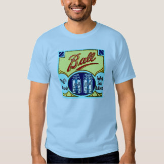 Vintage Ball Mason Fruit Jar Rings Box Label T-shirt